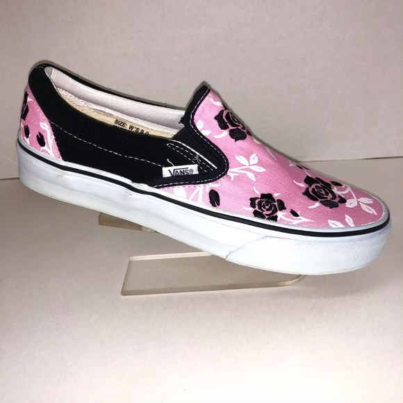 a6926a25cc Vans Sz 9 Pink Black Embroidered Floral Skate Shoe.  M 5b71cb9aaaa5b8706f21b98f